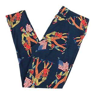 2ccb3f95eb6a93 New LuLaRoe Uncle Sam Retro Patriotic Leggings HTF TC Tall Curvy | eBay
