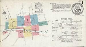 1890 Honeoye Falls New York~Sanborn Map©sheets ~1884 NY 1897 in full color