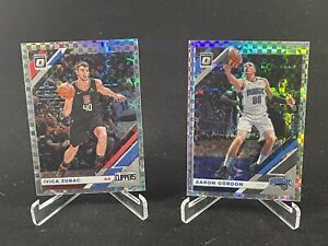 2019-20 Donruss Optic Aaron Gordon Checkerboard Prizm & Ivica Zubac SSP! 🔥holo