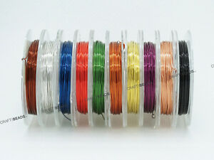 0.4mm Copper French Color Coated Beading Craft Wire 28 Gauge -Assorted 10 Spools