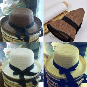 D0D9-Summer-women-Trilby-Sunhat-Straw-bowknot-Beach-Cap-Ladies-Wide-Brim-Sun-Hat