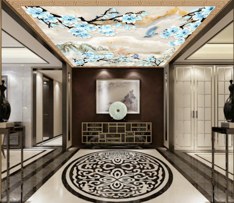 3D Magnolia Tree Mountain 7 Wall Paper Wall Print Decal Wall Deco AJ WALLPAPER