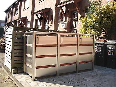 Mülltonnenbox GRACJA 3/240 Edelstahl Müllbox Tonnenhaus Müllcontainer Mülltonnen