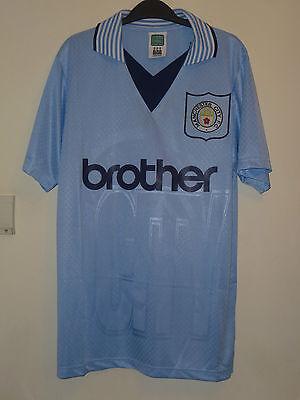 BNWT Manchester City Home Ss Retro 1996 Camiseta de Fútbol del empate | eBay