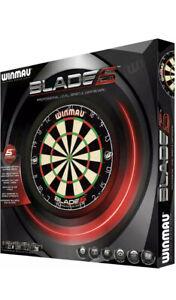 Winmau Blade 5 Professional Level Bristle Dartboard Dart Board with Rota-Lock