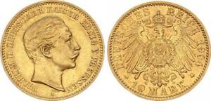 Preußen 10 Reichsmark 1904 a Kaiser Wilhelm II - Gold ss-vz 62691