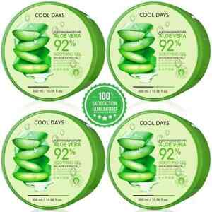 Aloe Vera 92% Moisturizing Gel True Natural Extract Soothing & Moisture 300ml US
