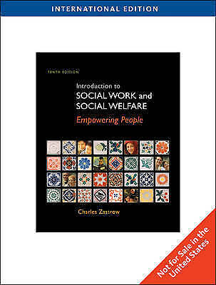 Introduction to Social Work and Social Welfare, ZASTROW, New Book