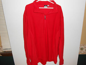 NEW Men's Storm Creek Cold Winter Weather  Microfleece Pullover Jacket Red 2X
