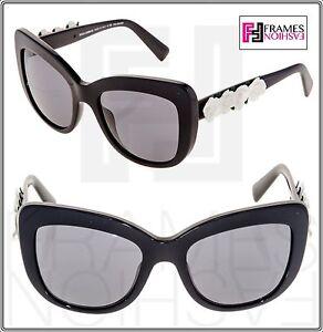 de6f4a6f7 Dolce & Gabbana Spanish Roses 4252 Black White Polarized Sunglasses ...