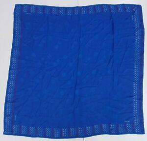 Foulard-oleg-cassini-blu-100-silk-pura-seta-original-made-in-italy-handmade