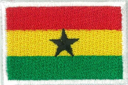 Écusson patche drapeau Ghana petit 45 x 30 mm brodé thermocollant