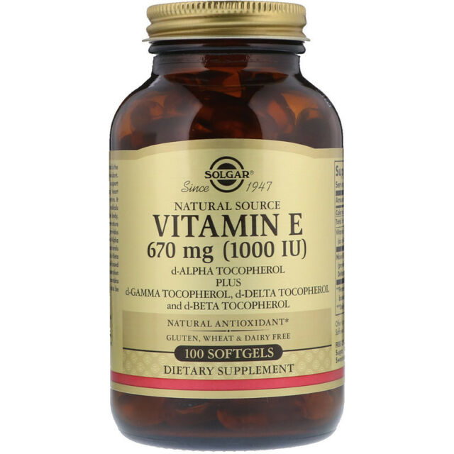 Solgar Natural Vitamin E 1000 Iu 100 Softgels