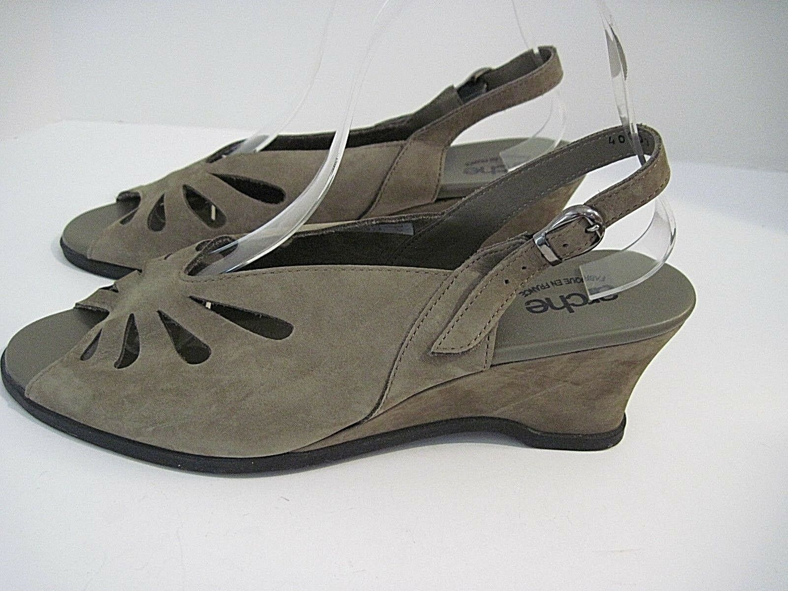 produttori fornitura diretta Arche Taupe Nubuck Slingback Peep Toe Toe Toe Wedge scarpe Sz 40  a prezzi accessibili