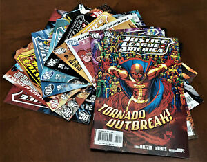 2006-JUSTICE-LEAGUE-OF-AMERICA-lot-of-10-includes-KEY-and-VARIANT