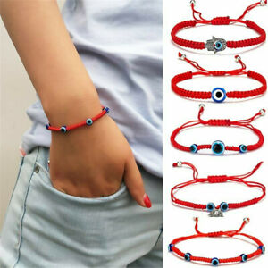 Blue-Eye-Red-Cord-DIY-Lucky-String-Beaded-Bracelet-Protection-Adjustable-Jewelry