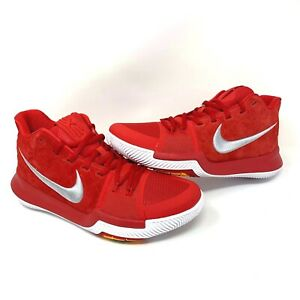 new style 8a6b8 f1fbc Details about Nike Kyrie Irving 3 Mens Basketball Shoes University  Red/White (852395-601) NEW