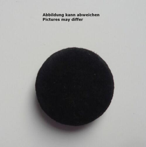 Lederknopf  Wildleder bezogen schwarz zur Auswahl