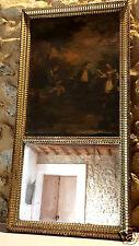 Trumeau, peinture + miroir d'époque 18ème