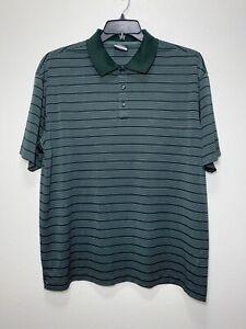 NIKE-GOLF-DRI-FIT-Men-039-s-Short-Sleeve-Polyester-Polo-Shirt-Green-Size-XL-Stripes