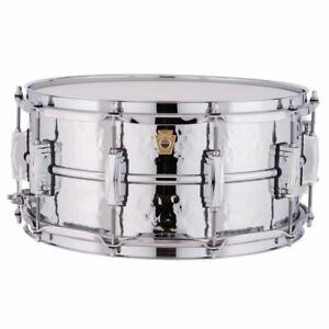 Ludwig-USA-LM402K-Supraphonic-Hammered-Aluminum-Snare-Drum-6-5-034-x-14-034