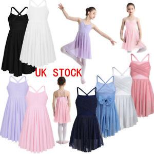 UK Girls Ballet Dance Dress Costume Latin Gymnastics Leotard Contemporary Dress