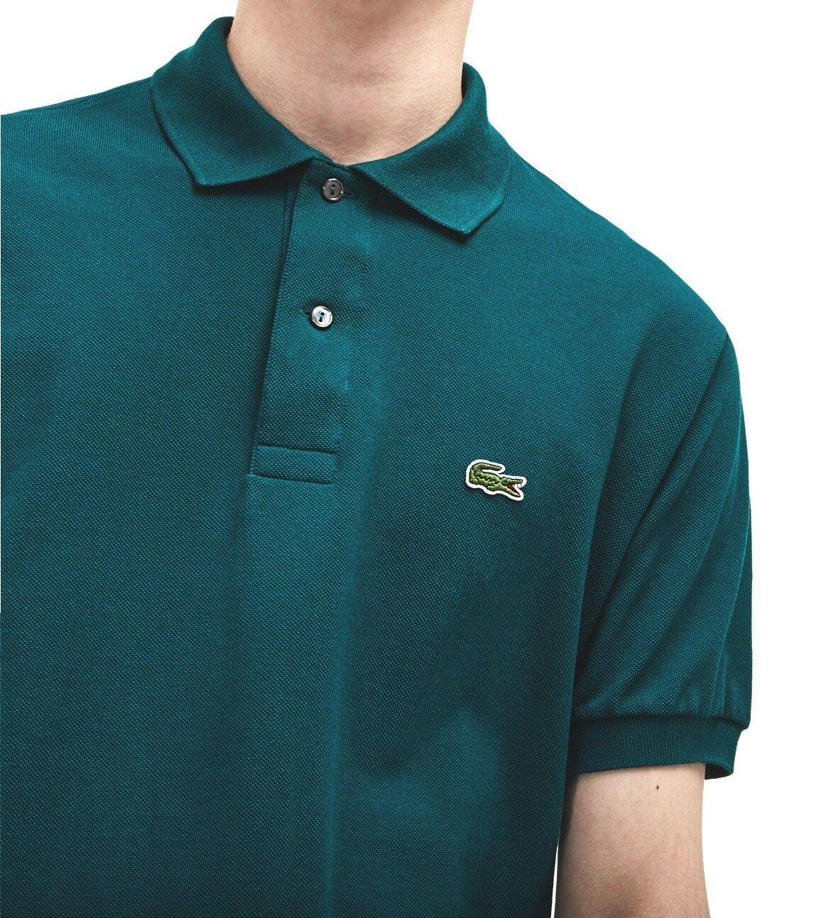 LACOSTE Polo Shirt Bnwt-XL T6-Classic Fit L1212-verde-prezzo consigliato