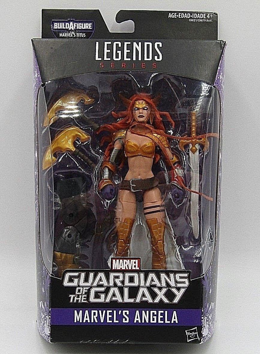Marvel Legends Angela Guardians of the Galaxy Titus BAF 6  Action Figure