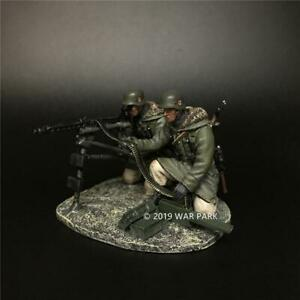 War-Park-2-Soldiers-Firing-Machine-Gun-1-30-WWII-German-Model-Figure-KH064