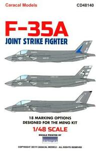 Caracal-Decals-1-48-LOCKHEED-MARTIN-F-35A-JOINT-STRIKE-FIGHTER