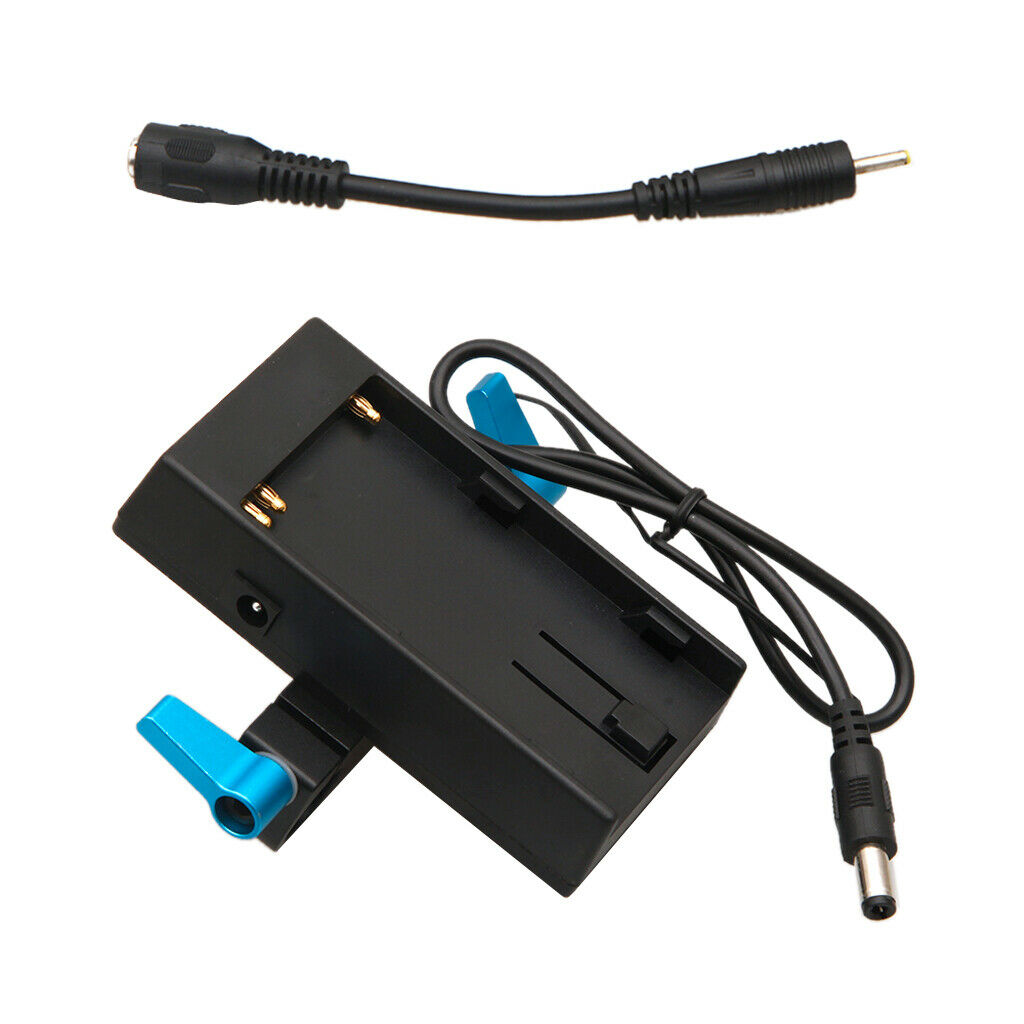 Battery Mount Plate Power Supply Adapter For Sony BP-U60 Camera