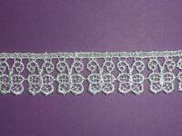*13.7 METRES (HALF PACK) Ivory Butterfly Venise Guipure Lace Trim 2cm *SALE*