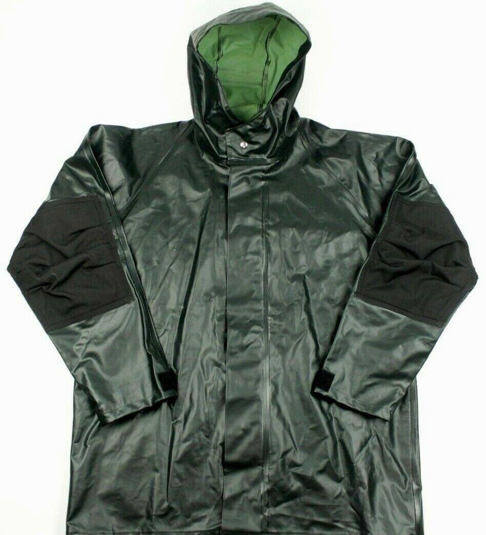 Cabelas Outdoor Gear Rain Coat Hooded jacke Cape Waterproof Grün Größe groß