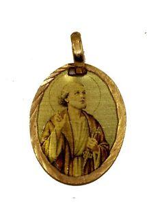 Santa Clara Medalla Saint Clara Medal 14k Gold Plated with 18 inch Chain