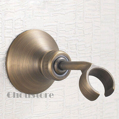 Antique Brass Finish Brass Adjustable Wall Mount Handheld Shower Bracket B512