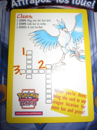 "POKEMON NEUF PROMO LEGENDARY BIRDS MINT /""CLUES/"" CARD NON HOLO ENGLISH ANGLAIS"