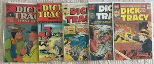 Golden Age Lot/5 DICK TRACY Comics #10GD/VG  #25 VG  #30 FN-  #106 VG  #132 VG