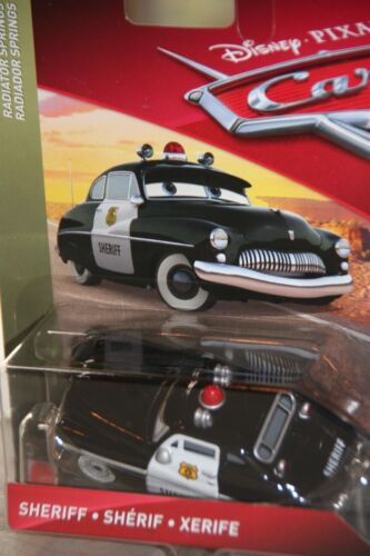 "DISNEY PIXAR CARS /""SHERIFF/"" NEW IN PACKAGE SHIP WORLDWIDE"