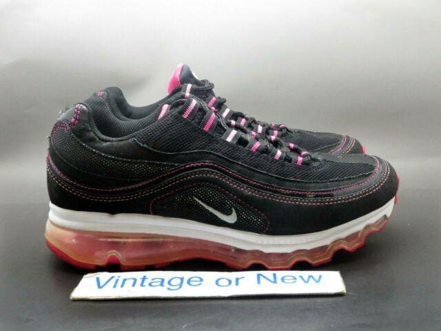 Girls' Nike Air Max 24 7 Black Pink White 2011 Running GS 401258 001 sz 5.5Y