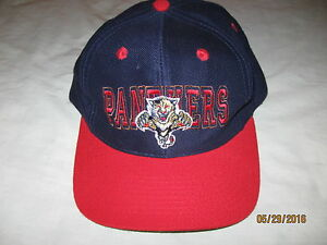 sports shoes 7b7c7 946c6 Image is loading Florida-Panthers-Vintage-Snapback-Hat-Cap-Mens-One-