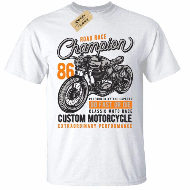 Mens T-Shirt Indian Motorcycle  Biker Motorbike Racer classic custom vintage