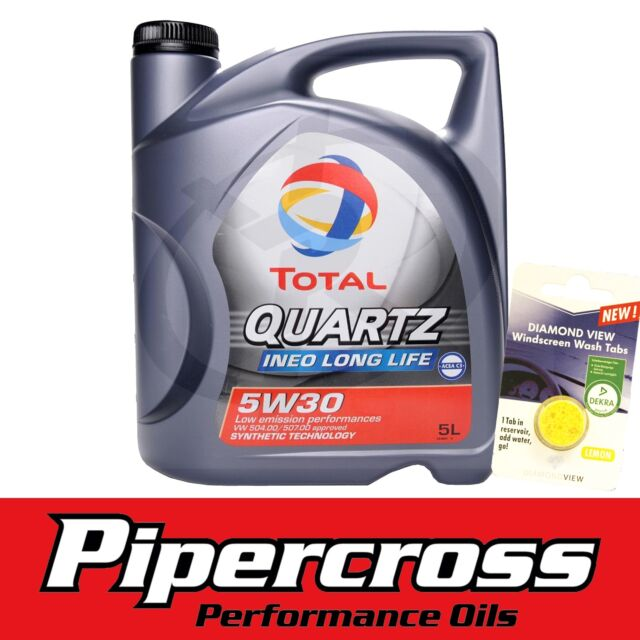 Porsche Engine Oil Total Quartz Ineo Long Life 5W30 5L + FREE 5 LITRE SCREENWASH