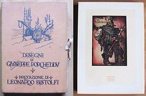 BISTOLFI-DISEGNI-DI-GIUSEPPE-PORCHEDDU-1928-Tirat-Limit-58-Tavole-sciolte