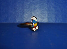 Vintage 1980 Smurf With Tennis Raquet Adjustable Ring New Old Stock