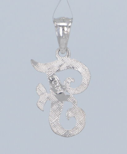 14k Gold Initial Letter H Charm Pendant Alphabet A-Z in Yellow or White Gold