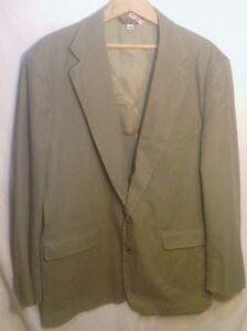 Men-039-s-L-L-Bean-Cotton-Canvas-Field-Jacket-Blazer-44-Reg-Khaki-GUC