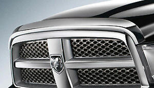 Chrome-Hood-Shield-Guard-Bug-Air-Deflector-for-10-18-Dodge-Ram-2500-3500