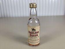 Mignonnette mini bottle non ouverte whisky highland queen