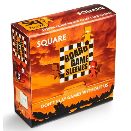 ARCANE TINMEN Non-Glare Matte Square Board Game Card Sleeves 70x70mm 50ct