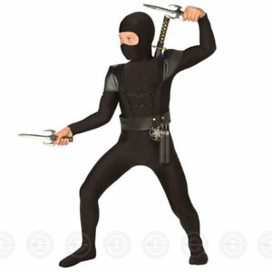 Ninos-Negro-Ninja-Mono-3-Tamanos-Disfraz-de-Halloween-Disfraz-para-Ninos